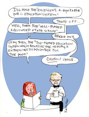 cartoon by Fiona Katauskas: education