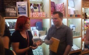 Sylvie Elsmore & More Than Luck author, Adam Stebbing