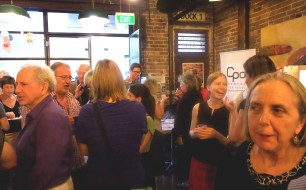 The crowd after the launch
