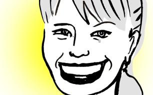 Miriam Lyons caricature by Fiona Katauskas