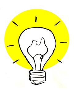 Lightbulb cartoon by Fiona Katauskas