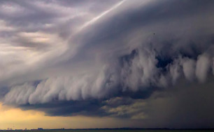 Storm clouds over Port Brisbane ©
