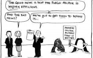 Fiona Katauskas cartoon: 'Good news'