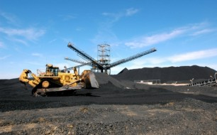 A coal mine operated by Aquila Resources in central Queensland.