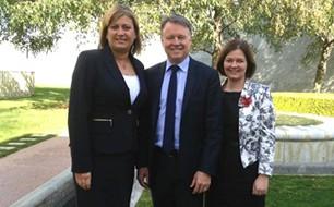 Justine Elliot, Joel Fitzgibbon and Lisa Chesters.