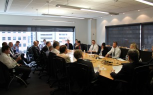The roundtable was held at Cisco's offices, 101 Collins St.